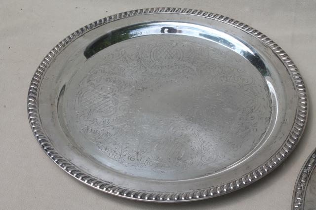 collection of vintage silverplate trophy plates u0026 trays etched silver plated pieces & collection of vintage silverplate trophy plates u0026 trays etched ...