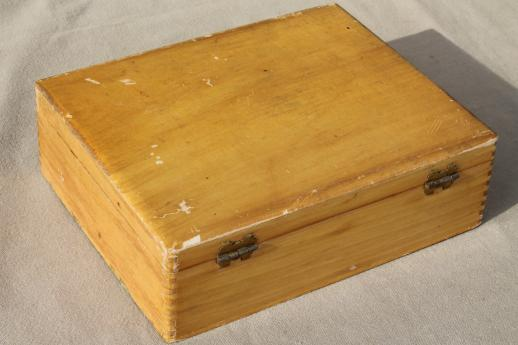 Wooden Glove Box ~ Collection of vintage wooden boxes wood jewelry box