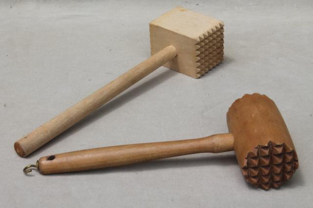 Collection of vintage wooden kitchen utensils wood spoons for Wooden kitchen utensils