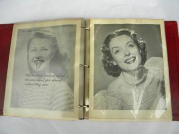 cosmetic dentistry transparences and dental photos, 1950s vintage