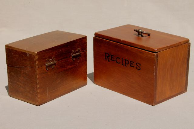 country kitchen vintage pine wood recipe boxes & wooden knife box carrier tray