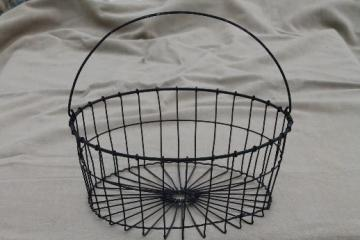 crimped wire basket for a few eggs or fruit, flat bowl shaped egg basket