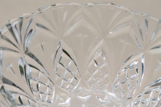 Crystal Clear French Glass Pineapple Fan Pattern Fruit