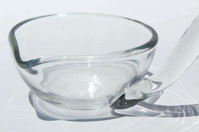 crystal clear glass punch ladle, vintage punch bowl ladle for wedding or parties