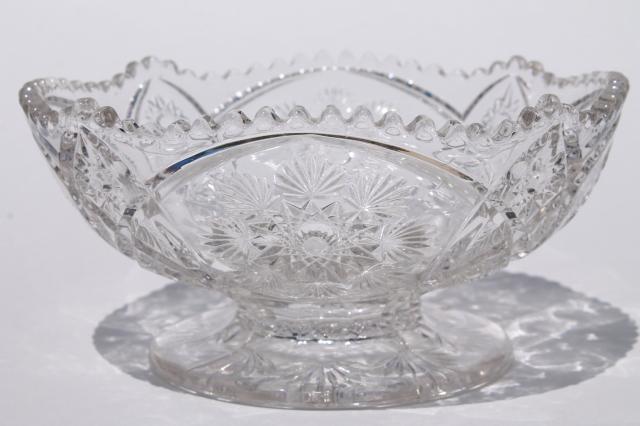 Crystal Clear Vintage Nu Cut Snowflake Pattern Pressed