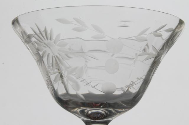 Crystal Clear Vintage Seneca Glass Champagne Glasses