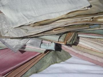 danish modern vintage 60s mod decorator lampshade curtain fabric samples lot