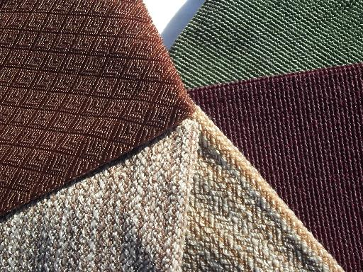 Danish Modern Vintage 60s Mod Decorator Upholstery Fabric Samples Lot