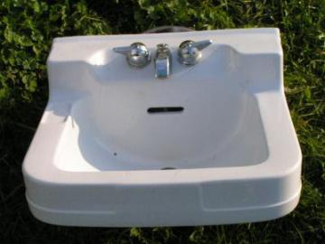 deco Crane porcelain architectural sink
