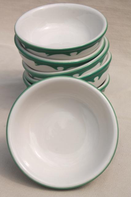 Deco Airbrush Stencil China Restaurant Ware Bowls Vintage