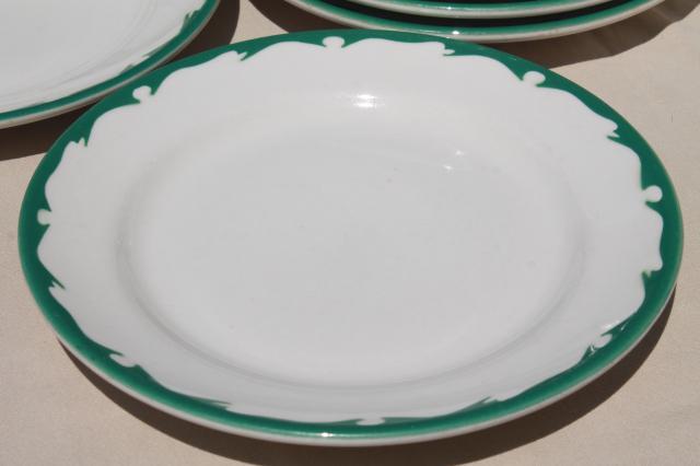 deco airbrush stencil china restaurant ware dinner plates vintage Buffalo china ironstone & deco airbrush stencil china restaurant ware dinner plates vintage ...