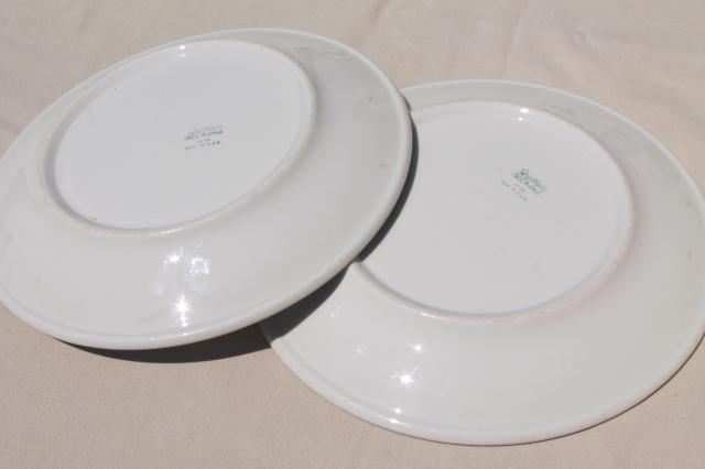 deco airbrush stencil china restaurant ware dinner plates, vintage ...
