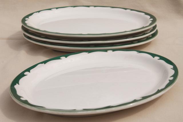 deco airbrush stencil china restaurant ware oval plates vintage Buffalo china ironstone & airbrush stencil china restaurant ware oval plates vintage Buffalo ...