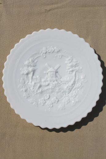 Decorative Milk Glass Plates Collector Plate Collection