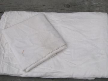 depression vintage bed sheet & pillowcase, old cotton feed sack fabric