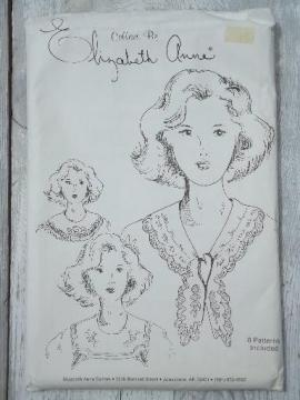 dress collars to make from vintage linens, rare small press sewing pattern