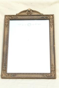 antique wood picture frames. Early 1900s Etched Glass Mirror W/ Original Antique Gesso Wood Frame Picture Frames R