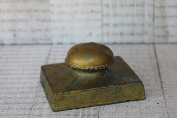 early 1900s vintage K & O mark brass ink blotter, antique desk blotter
