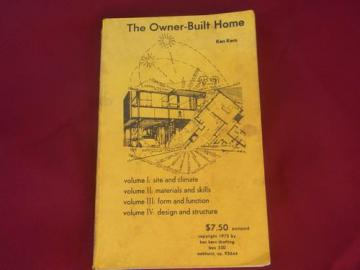 early 1970s back to the land vintage house home building book