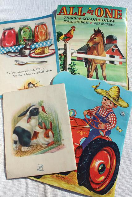 Vintage Children S Book Cover Art ~ Early s vintage children picture books w retro cover