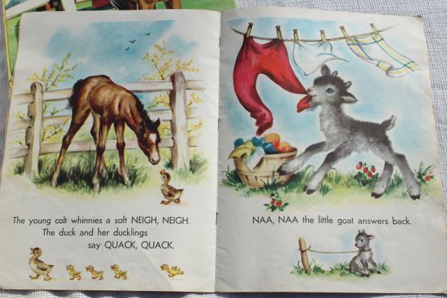 Early 50s Vintage Children S Picture Books W Retro Cover