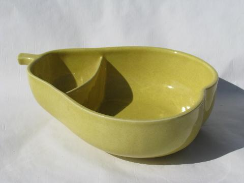 Early Pfaltgraff Pottery Vintage Yellow Pear Serving Bowl