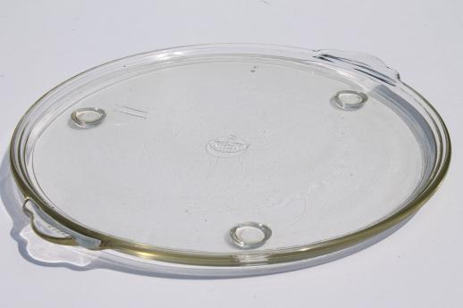 early Pyrex tray, clear glass oven proof kitchenware, depression glass vintage