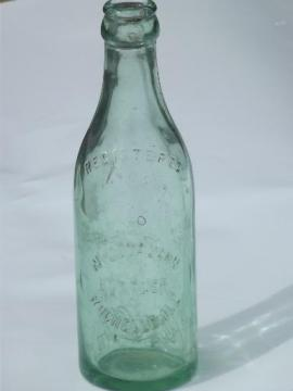 early vintage straight sided Root glass Coca-Cola bottle, Rochelle Ill.