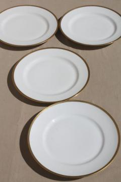 encrusted gold wedding band china plates pure white Limoges porcelain Elite mark : gold and white dinnerware - pezcame.com