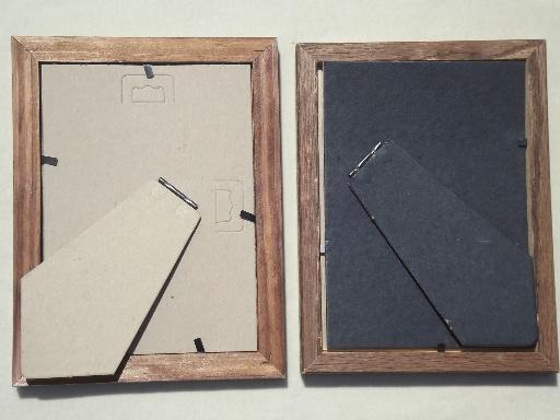 Estate Lot All Wood Picture Frames Small Photo Frames Grouping