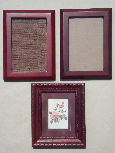 estate lot all wood picture frames small photo frames. Black Bedroom Furniture Sets. Home Design Ideas