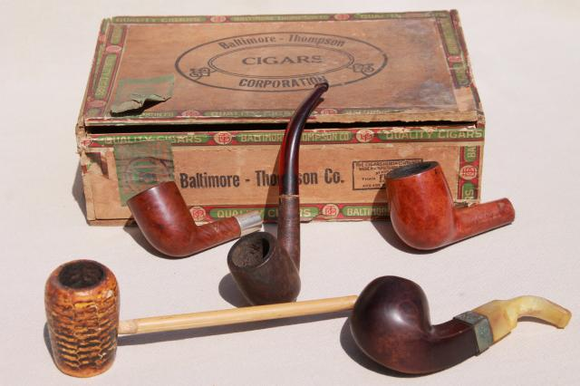 estate lot old tobacco smoking pipes for parts / restoration vintage briar wood pipe etc. & estate lot old tobacco smoking pipes for parts / restoration ...