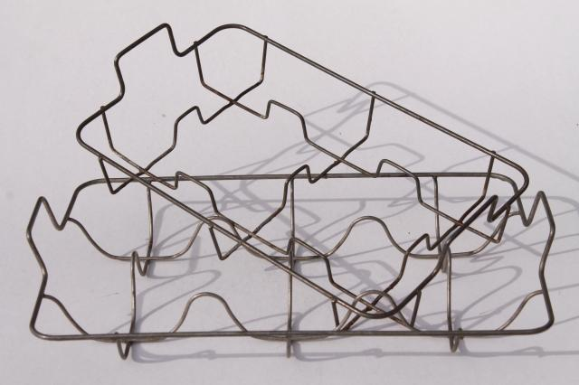 farmhouse vintage wire dish racks for plates or bottles large u0026 small drying rack set  sc 1 st  Laurel Leaf Farm & farmhouse vintage wire dish racks for plates or bottles large ...