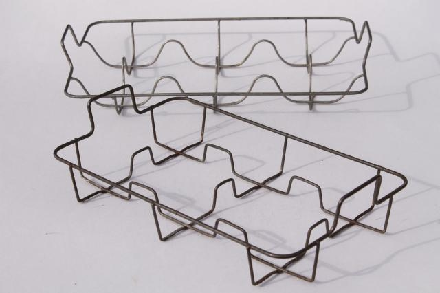 farmhouse vintage wire dish racks for plates or bottles