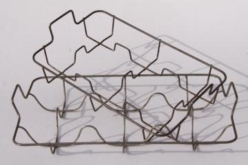 farmhouse vintage wire dish racks for plates or bottles, large & small drying rack set