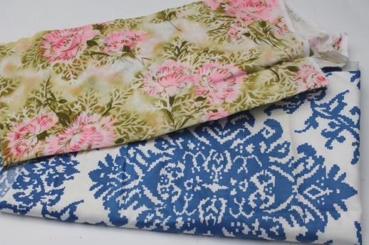 feed sack prints & retro print cottons, large lot vintage cotton print fabric