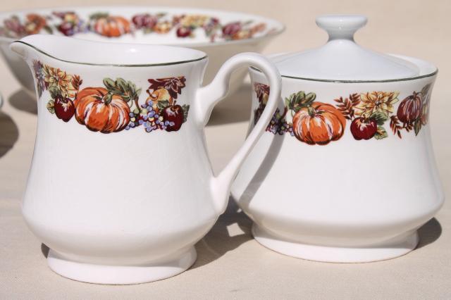 Fine Stoneware Thanksgiving China Dinnerware W Turkey