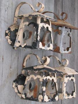 flowered lanterns vintage porch entry way lights, wall sconce lamps
