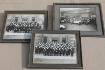 framed antique photos Knights of Columbus fraternal order in uniform w/ plumed hats