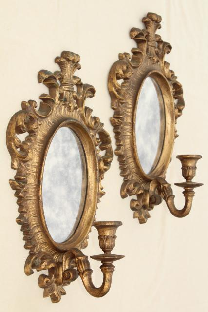French country style vintage gold rococo mirror frame for Baroque resin mirror