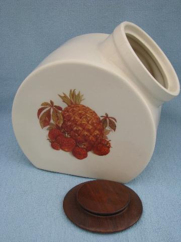 fruit festival pattern vintage McCoy pottery cookie jar kitchen canister