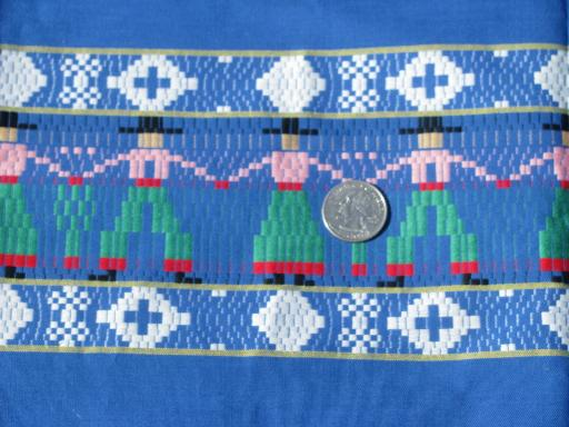 gaucho cowboys woven border cotton fabric, bright Indian blanket colors