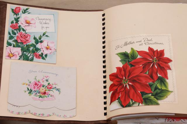 Scrapbook of vintage greeting cards holiday cards valentines grandmothers scrapbook of vintage greeting cards holiday cards valentines m4hsunfo Images
