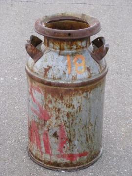 great old country milk can from farm estate