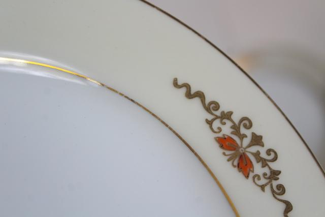 hand painted gold moriage M mark Noritake china set 10 tea cup / plate trios antique vintage