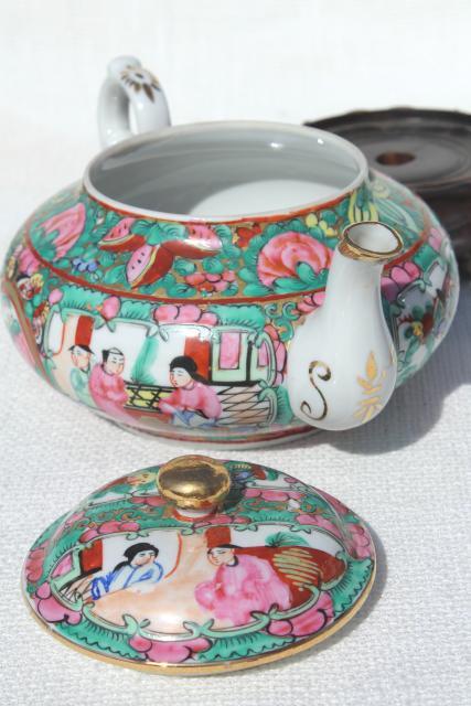 Hand Painted Porcelain Tea Pot Set Cups Amp Saucers Famille
