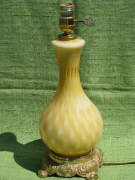 hand-blown art glass table lamp, 60s vintage Murano w/ Italy label