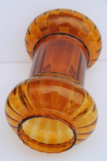hand-blown glass lantern globes, 60s vintage amber glass hanging lamp light shades