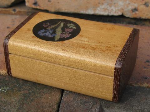Handcrafted Purple Heart Wood Birdeye Maple Jewelry Box