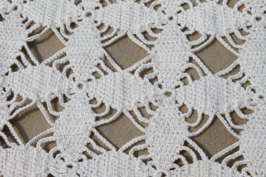 Superieur Handmade Crochet Lace Tablecloth, 1940s Vintage Star Pattern Cotton Thread  Crochet Cloth